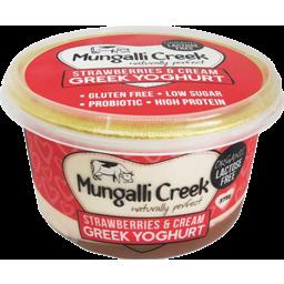 Photo of Mungalli Creek Yoghurt - Greek Style With Strawberries & Cream