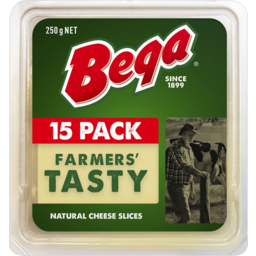 Photo of Bega Farmers Tasty Natural Cheese Slices 250g