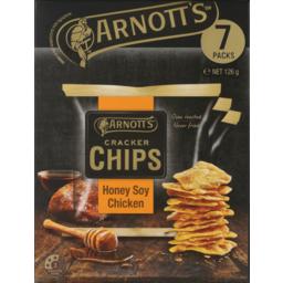 Photo of Arnott's Cracker Chips Honey Soy Chicken Multipack 126g