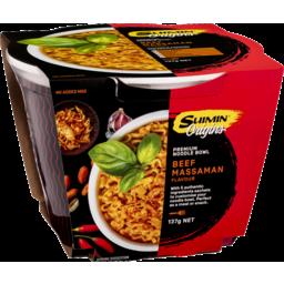 Photo of Suimin Origins Premium Noodle Bowl Beef Massaman 137g