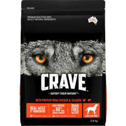 Photo of Crave With Protein From Chicken & Salmon Adult Dry Dog Food 2.8kg