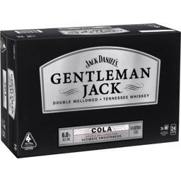 Photo of Jack Daniels Gentleman Jack & Cola Can 375ml 24 Pack
