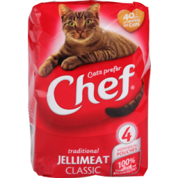 Photo of Chef Cat Food Pouch Jellymeat 4 Pack