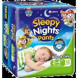 Photo of Babylove Sleepy Nights 2-4yrs 12pk