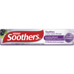 Photo of Soothers Blackcurrant Flavour + Vitamin C 10 Lozenges