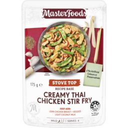 Photo of Masterfoods Stir Fry Creamy Thai Chicken Recipe Base 175g