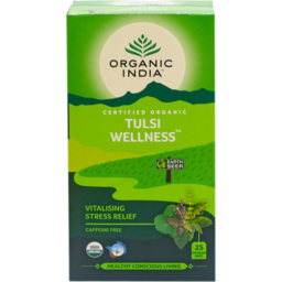 Photo of Organic India Tulsi Wellness Caffeine Free Infusion Bags 25 Pack 45g
