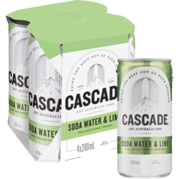 Photo of Cascade Lime & Soda Mini Cans 4x200ml