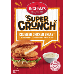 Photo of Inghams Super Crunch Crumbed Chicken Breast 350g