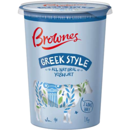 Photo of Brownes Greek Style Yoghurt 1kg