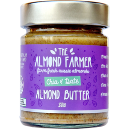 Photo of The Almond Farmer Gluten Free Chia & Date Almond Butter 250g