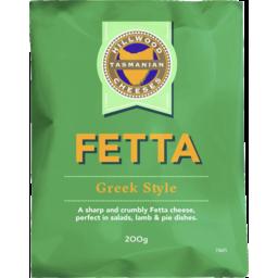Photo of Hillwood Tasmanian Cheeses Greek Style Fetta 200gm
