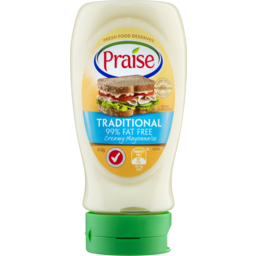 Photo of Praise Traditional 99% Fat Free Mayonnaise 410gm