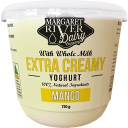 Photo of The Margaret River Dairy Mango Yoghurt 750g