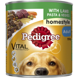 Photo of Pedigree Adult With Lamb, Pasta & Vegies Homestyle Wet Dog Food 700g Can
