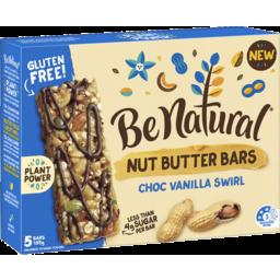 Photo of Be Natural Nut Butter Bars Choc Vanilla Swirl 5 Pack 135g 135g
