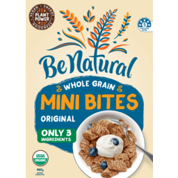 Photo of Be Natural Organics Cereal Golden Whole Grain Bites Original 460g