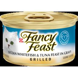 Photo of Fancy Feast Cat Food Ocean Whitefish & Tuna Feast In Gravy Grilled 85g