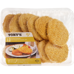 Photo of Tonys Schnitzel Chicken 12 Pack