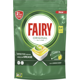 Photo of Fairy Original All In One Lemon Scented Automatic Dishwasher Tablets 64 Pack