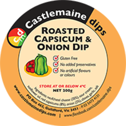 Photo of Castlemaine Dip Roast Capsicum & Onion 200g