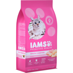 Photo of Iams Proactive Health Cat Dry Food with Chicken & Turkey Healthy Digestion 1.59 Kg