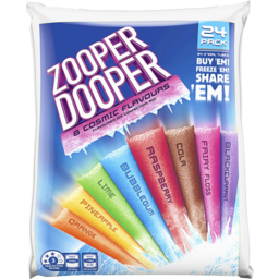 Photo of Zooper Dooper 8 Cosmic Flavours 24x70ml Tubes