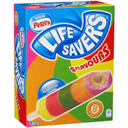 Photo of Nestle Peters Life Savers 5 Flavours 8pk 530ml