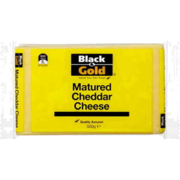Photo of Black & Gold Cheese Cheddar Matured 500g