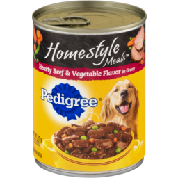Photo of Pedigree Food For Dogs Homestyle Meals Hearty Beef & Vegetable Flavor In Gravy