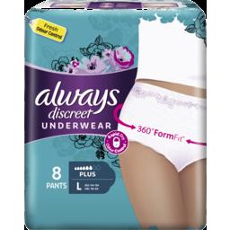 Photo of Always Discreet Underwear L Plus 8 Pants