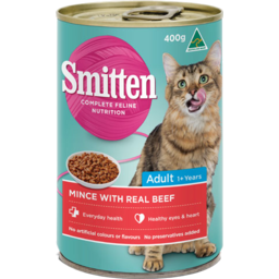 Photo of Smitten Adult Cat Food Mince Beef 400g