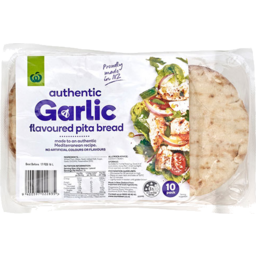 Photo of WW Pita Bread Garlic Flavoured 10 Pack