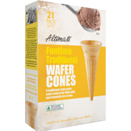 Photo of Altimate Funtime Traditional Wafer Cones 21pk