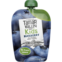Photo of Tamar Valley Kids Greek Yoghurt Blueberry 110g