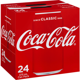Photo of Coca-Cola Classic Soft Drink Multipack Cans 24x375ml