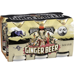 Photo of Brookvale Ginger Beer Can 330ml 6 Pack
