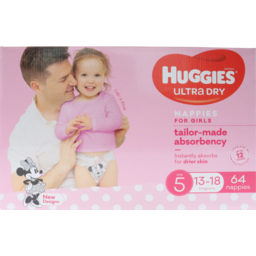 Photo of Huggies Jumbo Ultra Dry Walker Girl 64s