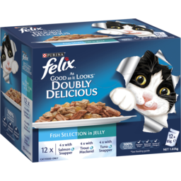 Photo of Purina Felix As Good As It Looks Doubly Delicious Fish Selection Adult Wet Cat Food 12x85g