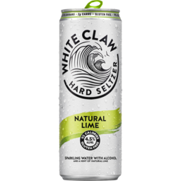 Photo of White Claw Natural Lime Seltzer Cans