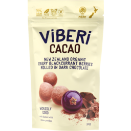 Photo of Viberi Choc Rolled B/Currant Cacao 90g