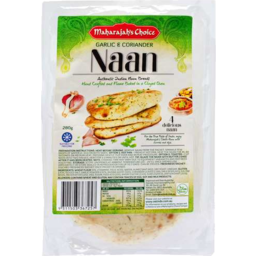 Photo of Maharajahs Choice Naan Garlic & Coriander 280g 4pk