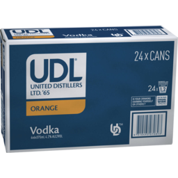 Photo of UDL Vodka & Orange Cans