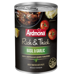 Photo of Ardmona Rich & Thick Chopped Tomatoes with Basil & Garlic 410g