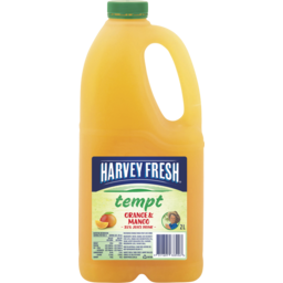 Photo of Harvey Fresh Tempt Orange & Mango Juice 2l
