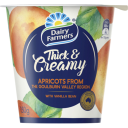 Photo of Dairy Farmers Thick & Creamy Apricot & Vanilla 150gm