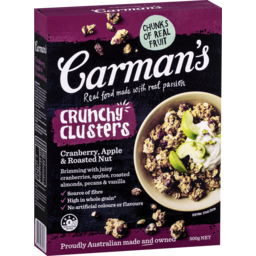 Photo of Carmans Cranberry & Apple Clusters 500g