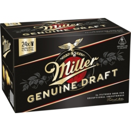 Photo of Miller Genuine Draft New Bottle 330ml 24 Pack