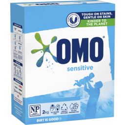 Photo of Omo Sensitive Laundry Detergent Washing Powder Front & Top Loader 2kg