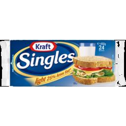 Photo of Kraft® Singles Light 25% Less Fat† 24 Slices) 432g